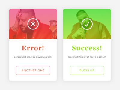 Daily UI #011: Error/Success Message