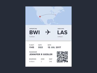 Daily UI #024: Boarding Pass