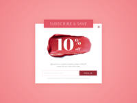 Daily UI #026: Subscribe