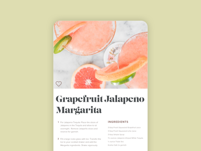 Daily UI #040: Recipe daily ui app mobile app unsplash dailyui040 dailyui ui design ui recipe