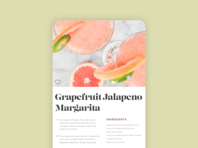 Daily UI #040: Recipe
