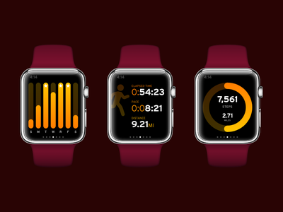 Daily UI #041: Workout Tracker workout apple watch watch ui watch dailyui041 daily ui dailyui ui design ui