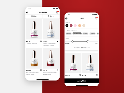 Indigo Nails – eCommerce iOS App login product card color picker button ui online store store shop app shop concept app concept ecommerce sketch product design ios app nails