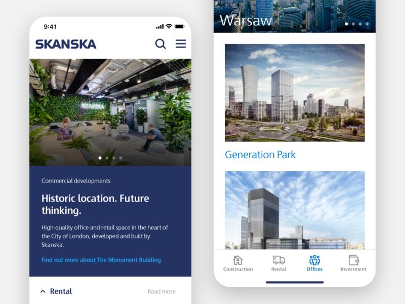 Skanska Rental App product card color picker button ui real estate concept app concept ecommerce sketch product design ios app rental