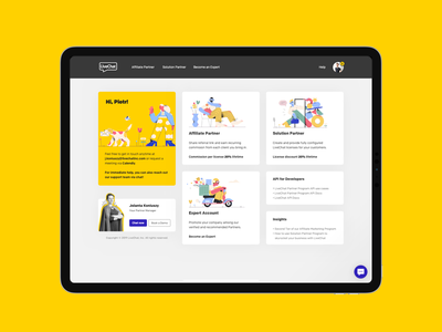 LiveChat Partner Program | Dashboard Web Design ui concept modern illustration design web dashboard livechat
