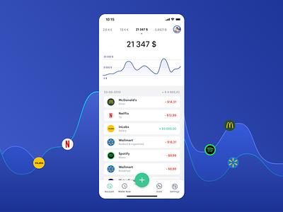 Personal Finance App ui app app concept button tracking app budget financial app finances financial ios finance