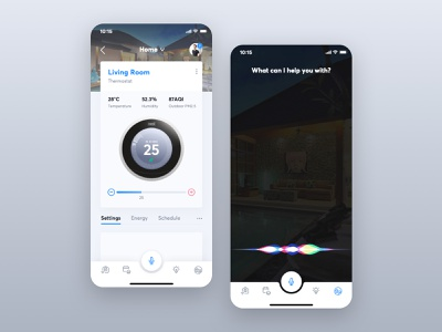 Incast | iOS Smart Home App homelink ios home app smart home home automation button ui weather
