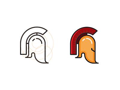 Roman Gladiator Helmet gladiator classic traditional icon game roman rome illustration graphic branding identity logo