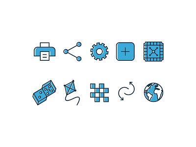 Icon set for board game platform boardgame game icon illustration graphic branding identity logo