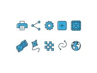 Icon set for board game platform
