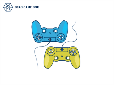 BEAD GAME BOX Custom Controller Illustration  boardgame gameplay console controller playstation game icon illustration graphic branding identity logo