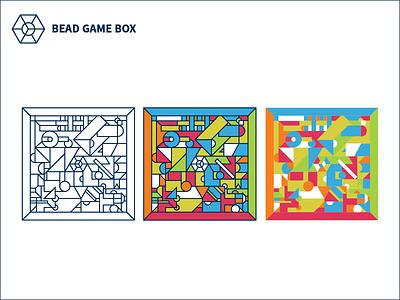Bead Game Box Custom Canvas Illustration art canvas boardgame game icon illustration graphic branding identity logo