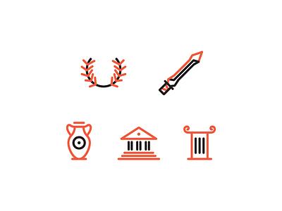Roman Icons icons rome game icon illustration graphic branding identity logo