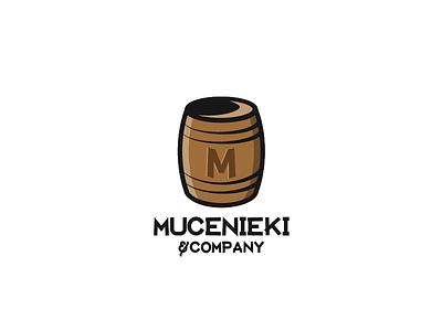 Mucenieki & Company typo typography barrel family icon illustration graphic branding identity logo