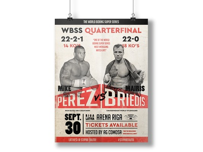 WBSS Q/F Poster illustration box perez briedis posterdesign boxing design poster