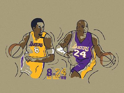 Kobe 8-24 black mamba kobe bryant nba basketball legend 8 24 mamba bryant kobe editorial illustration