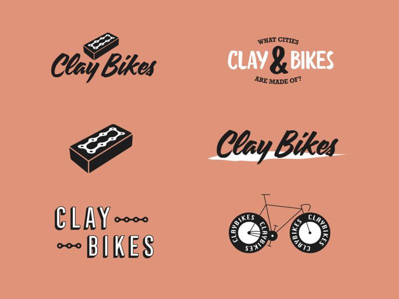 Clay Bikes Branding / Logoset