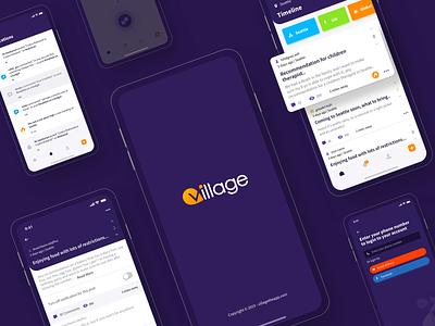 Village concept design android app ios app product design userinterface user experience uidesign uiux