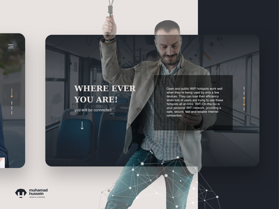 Website - section visual calltoaction typeface ux ui webdesign