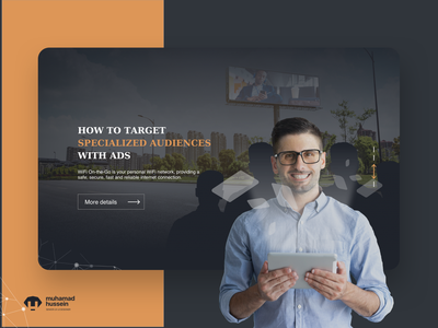 Landing page - Wifi on the go! calltoaction typogaphy visual design design website