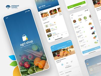 Agri shop android user experience ios logo branding design typography dribbble app behance branding uxui