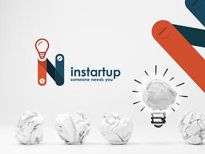 instartup app application ux ui illustration design branding logo
