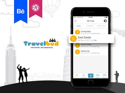Travelbud app dribbble behance wireframes design interaction travel app ios