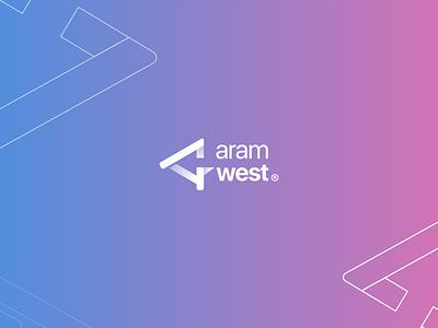 Aramwest logo branding creativity design identity logo branding