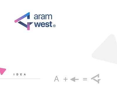 Aramwest logo identity logo design branding