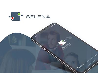 Selena logo vector icon illustration ux ui identity dribbble behance branding design