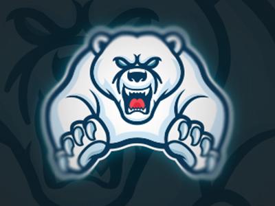 polar bear mascot logo by mascot logo captain dribbble