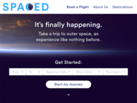 SPACED Landing Page & Logo #SPACEDchallenge