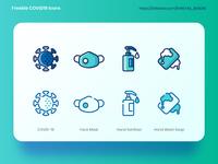 Freebie - CoVID-19 Icons
