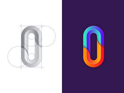 Simple Mark for Zero  zero grid identity brand monogram logo mark