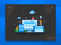 Kormoan- Web & Mobile Applications Illustration
