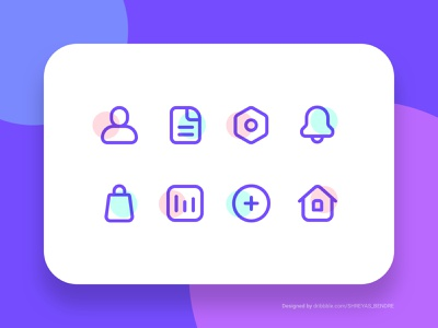 Freebie - Sketch Icons mobile app design interface illustration icon add documents files notifications shop home home profile settings free download file creative bright useful system icon line