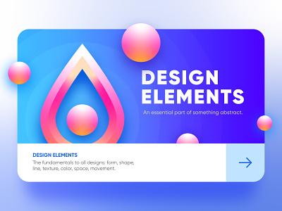 Design Elements Ui card flat branding materialdesign app ui concept app ux illustration icon vector ui