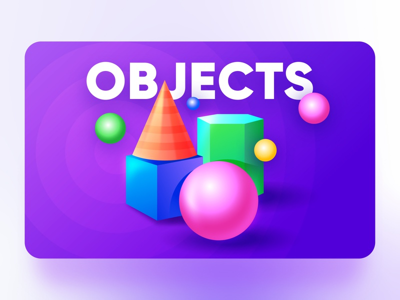 Objects - Elements of design interaction design interface business icon vector illustration ux ui web design principle flat illustration circle square