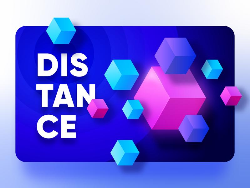 Distance - Elements of design app branding typography website vector dark ui clean minimal color expolraton ui cards ux design interface ui shape elements theme muzli 3d