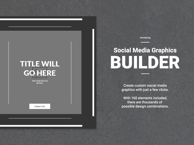 social media graphics builder by web donut dribbble dribbble