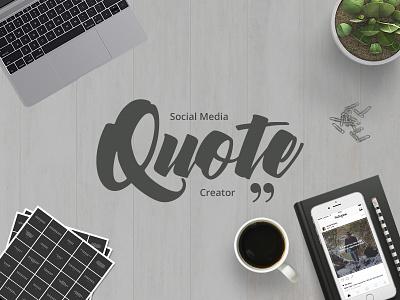 Social Media Quote Creator social media marketing facebook twitter pinterest instagram design banner design banner quotes quote creator quote