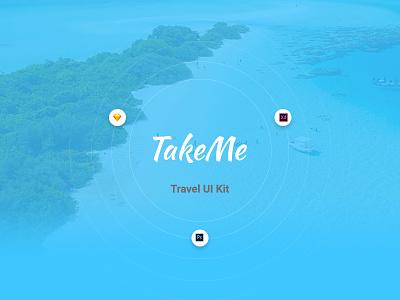 TakeMe - Free UI Kit madewithadobexd xd sketch psd freebie free ui kit ui travel