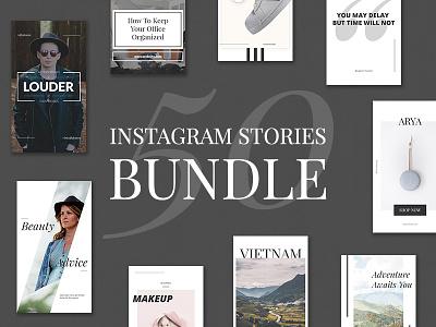 50 Instagram Stories Bundle promo banners instagram marketing social media social mobile marketing instagram stories instagram