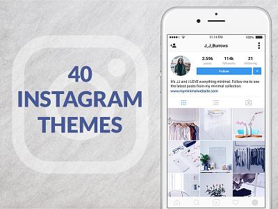 40 Instagram Themes instagram instagram feed planner web donut instagram template social media template instagram profile template insta profile instagram psd template