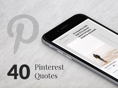 40 Pinterest Quotes pinterest template quote template social media template web donut minimal inspirational quotes quote pinterest quote social media pinterest