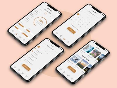 Meditation App Concept adobe xd ui kit xd mobile design adobe xd mobile app adobe xd ios mobile app ux ui