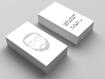 Business card chip