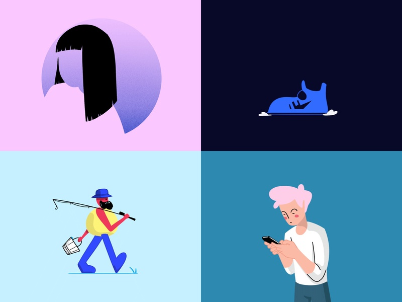 2018 was a good year! cel illustration gif photoshop ae effects after motion animation design 2d