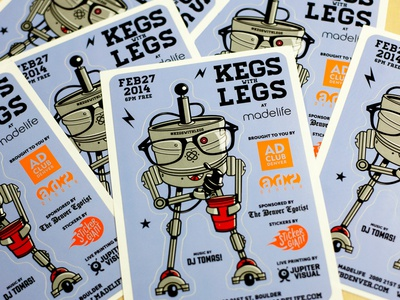 Kegs with Legs Sticker Sheets