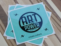 Art is Power Sticker Sheet